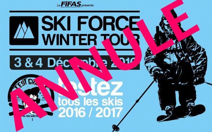 Annulation du Ski Force Winter Tour du 3-4 décembre au Grand Bornand