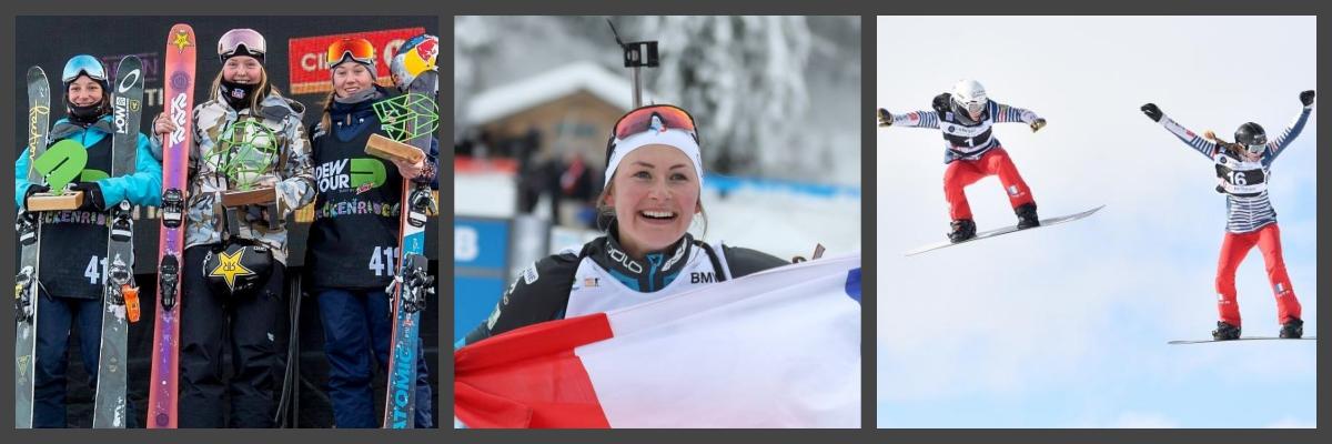 equipe de rance-skieuses-femmes-montagne-athletes-competition