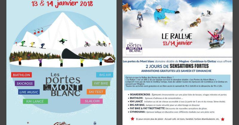 Un Rallye à faire en famille face au Mont-Blanc – 13/14 janvier 2018