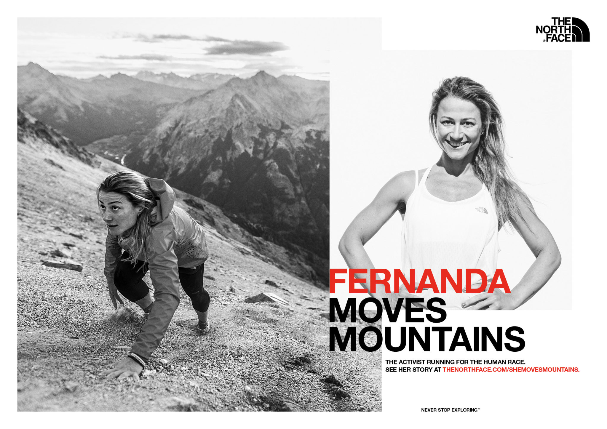 campagne-media-femmes-montagne-vetements-sports-accessoires-equipement-outdoor-alpinisme-vertical-trail-running-grimpe-escalade-exploration-exploratrice-aventuriere-neverstopexploring
