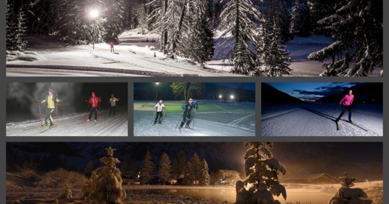 Découvrez le ski de fond nocturne gratuitement à Chamonix et au Grand Bornand